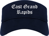 East Grand Rapids Michigan MI Old English Mens Visor Cap Hat Navy Blue