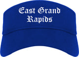 East Grand Rapids Michigan MI Old English Mens Visor Cap Hat Royal Blue