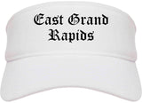 East Grand Rapids Michigan MI Old English Mens Visor Cap Hat White