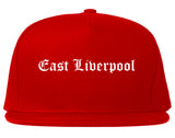 East Liverpool Ohio OH Old English Mens Snapback Hat Red