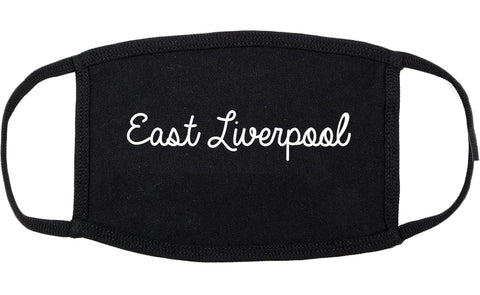 East Liverpool Ohio OH Script Cotton Face Mask Black