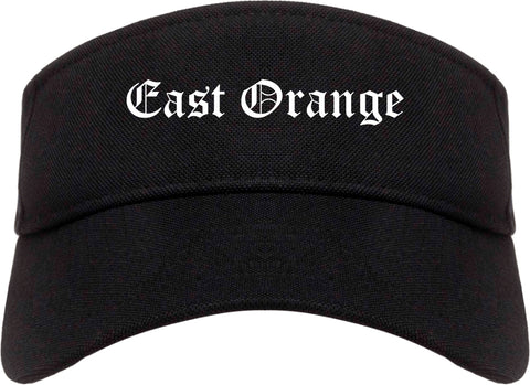 East Orange New Jersey NJ Old English Mens Visor Cap Hat Black