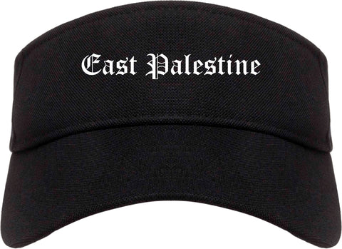 East Palestine Ohio OH Old English Mens Visor Cap Hat Black