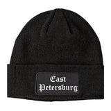 East Petersburg Pennsylvania PA Old English Mens Knit Beanie Hat Cap Black