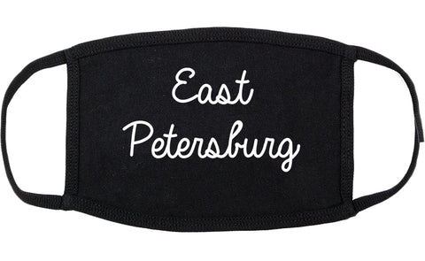 East Petersburg Pennsylvania PA Script Cotton Face Mask Black