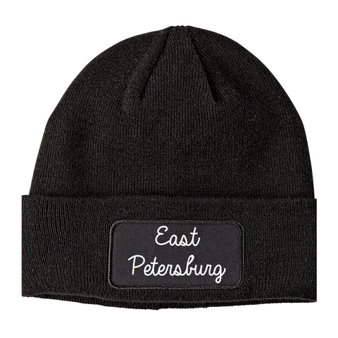 East Petersburg Pennsylvania PA Script Mens Knit Beanie Hat Cap Black