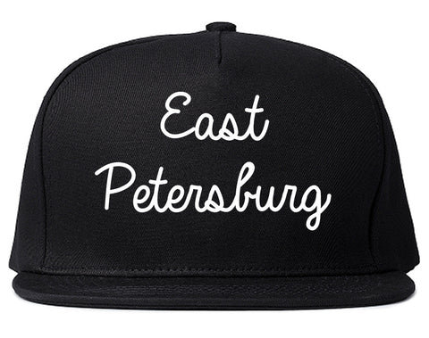 East Petersburg Pennsylvania PA Script Mens Snapback Hat Black