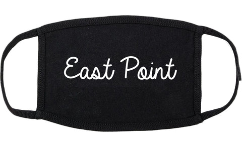 East Point Georgia GA Script Cotton Face Mask Black