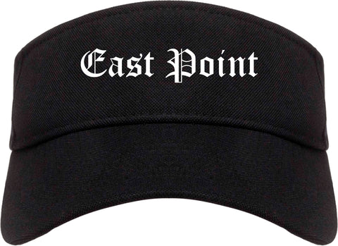 East Point Georgia GA Old English Mens Visor Cap Hat Black