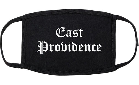 East Providence Rhode Island RI Old English Cotton Face Mask Black