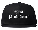 East Providence Rhode Island RI Old English Mens Snapback Hat Black