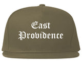 East Providence Rhode Island RI Old English Mens Snapback Hat Grey