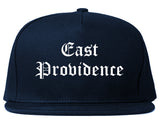 East Providence Rhode Island RI Old English Mens Snapback Hat Navy Blue