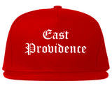 East Providence Rhode Island RI Old English Mens Snapback Hat Red