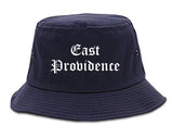 East Providence Rhode Island RI Old English Mens Bucket Hat Navy Blue
