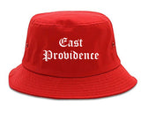 East Providence Rhode Island RI Old English Mens Bucket Hat Red