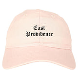 East Providence Rhode Island RI Old English Mens Dad Hat Baseball Cap Pink