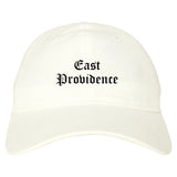 East Providence Rhode Island RI Old English Mens Dad Hat Baseball Cap White