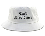 East Providence Rhode Island RI Old English Mens Bucket Hat White