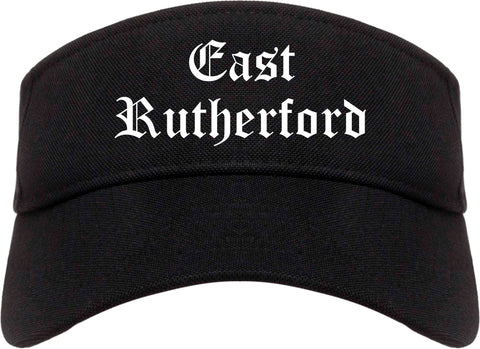East Rutherford New Jersey NJ Old English Mens Visor Cap Hat Black