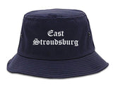 East Stroudsburg Pennsylvania PA Old English Mens Bucket Hat Navy Blue