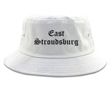 East Stroudsburg Pennsylvania PA Old English Mens Bucket Hat White