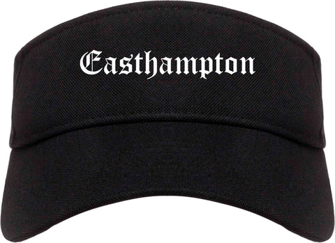Easthampton Massachusetts MA Old English Mens Visor Cap Hat Black