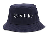 Eastlake Ohio OH Old English Mens Bucket Hat Navy Blue