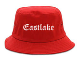 Eastlake Ohio OH Old English Mens Bucket Hat Red