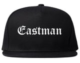Eastman Georgia GA Old English Mens Snapback Hat Black