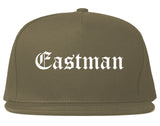 Eastman Georgia GA Old English Mens Snapback Hat Grey