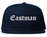 Eastman Georgia GA Old English Mens Snapback Hat Navy Blue