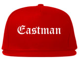 Eastman Georgia GA Old English Mens Snapback Hat Red