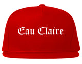 Eau Claire Wisconsin WI Old English Mens Snapback Hat Red