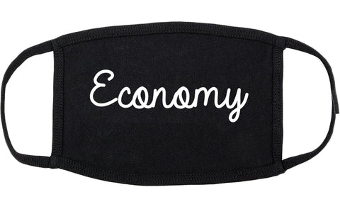 Economy Pennsylvania PA Script Cotton Face Mask Black