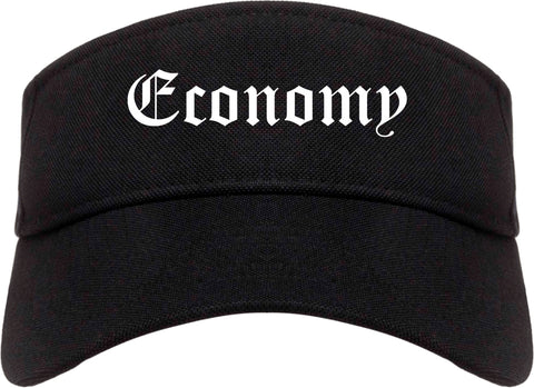 Economy Pennsylvania PA Old English Mens Visor Cap Hat Black