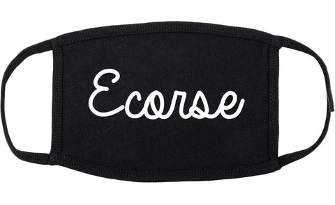 Ecorse Michigan MI Script Cotton Face Mask Black