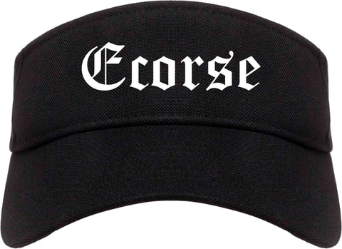 Ecorse Michigan MI Old English Mens Visor Cap Hat Black