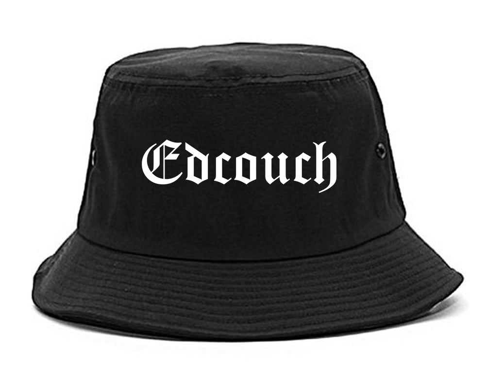 Edcouch Texas TX Old English Mens Bucket Hat Black