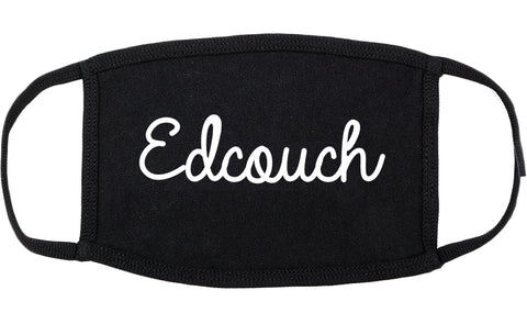 Edcouch Texas TX Script Cotton Face Mask Black