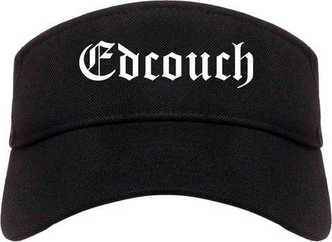 Edcouch Texas TX Old English Mens Visor Cap Hat Black