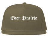 Eden Prairie Minnesota MN Old English Mens Snapback Hat Grey