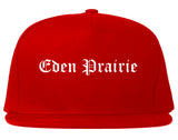 Eden Prairie Minnesota MN Old English Mens Snapback Hat Red