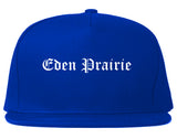 Eden Prairie Minnesota MN Old English Mens Snapback Hat Royal Blue