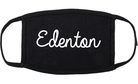 Edenton North Carolina NC Script Cotton Face Mask Black