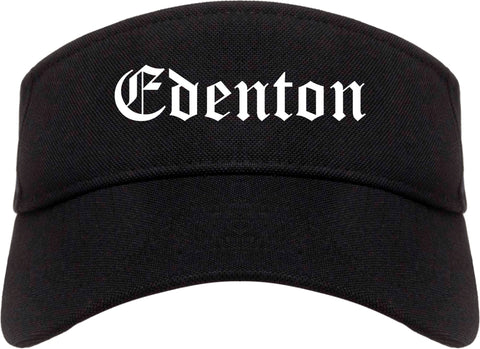 Edenton North Carolina NC Old English Mens Visor Cap Hat Black