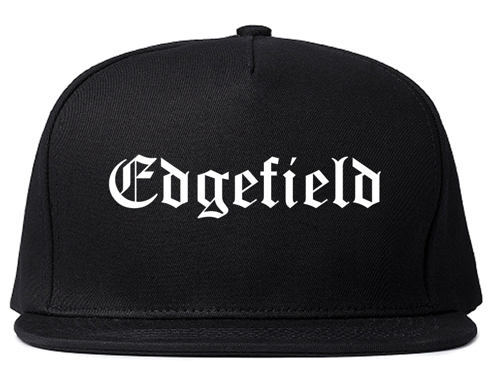 Edgefield South Carolina SC Old English Mens Snapback Hat Black