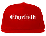 Edgefield South Carolina SC Old English Mens Snapback Hat Red