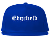 Edgefield South Carolina SC Old English Mens Snapback Hat Royal Blue