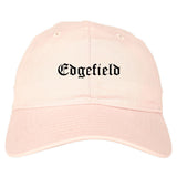 Edgefield South Carolina SC Old English Mens Dad Hat Baseball Cap Pink